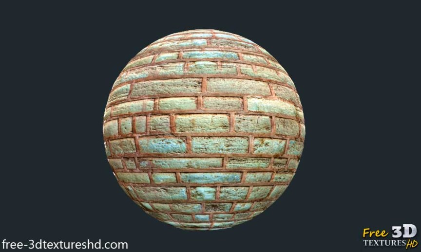 BPR material old brick wall free texture high resolution stone red download