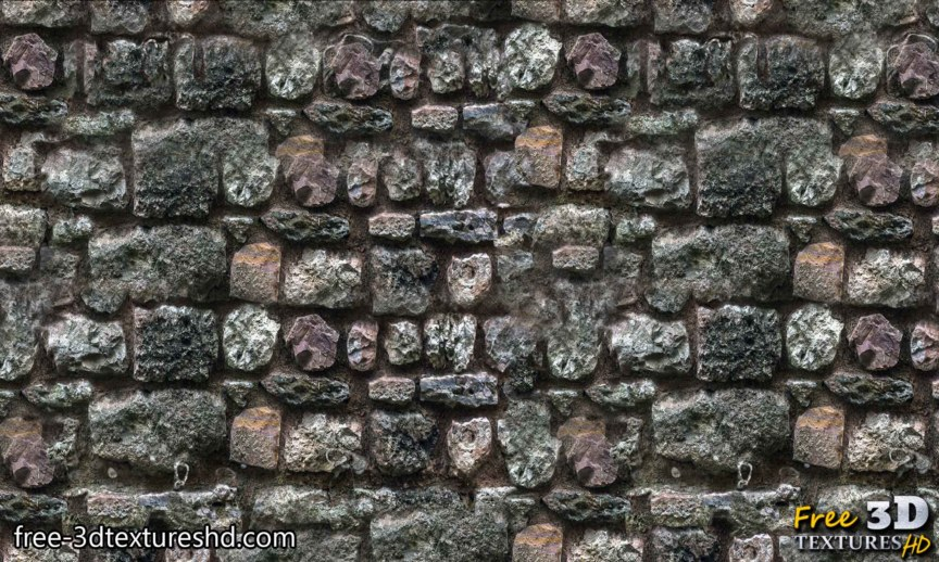 Old brick wall concrete vintage with big stones download seamless free texture high resolution 4k