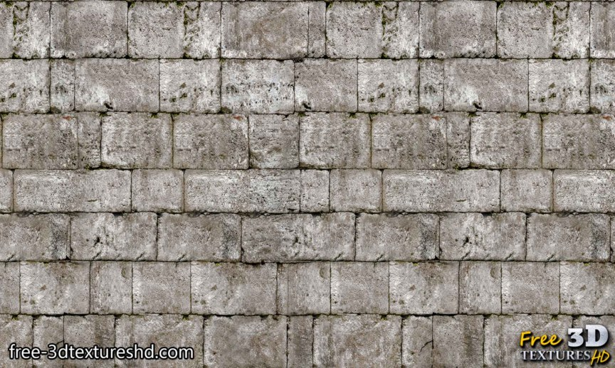 Old brick wall with gray stones download seamless free texture high resolution
