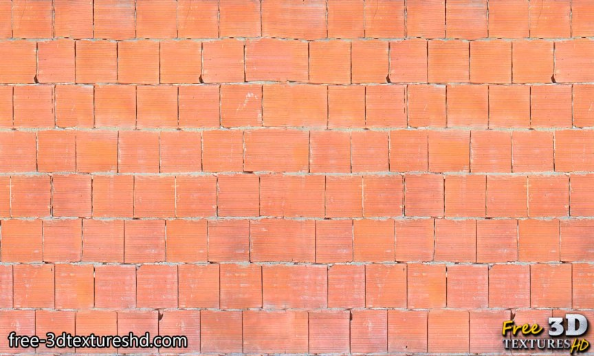 Red big brick wall with cement download seamless free texture high resolution 4k