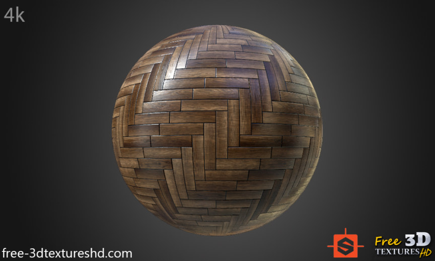 WOOD FLOORS- Parquet dark-Textures - ARCHITECTURE -Dark parquet flooring texture seamless -BPR material -High Resolution-Free Download-4k-preview