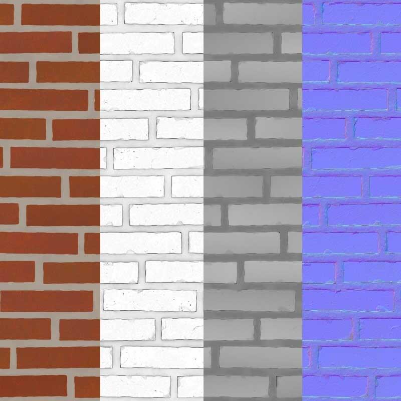 Brick Wall Free 3d Texture free download PBR Seamless HD 4k