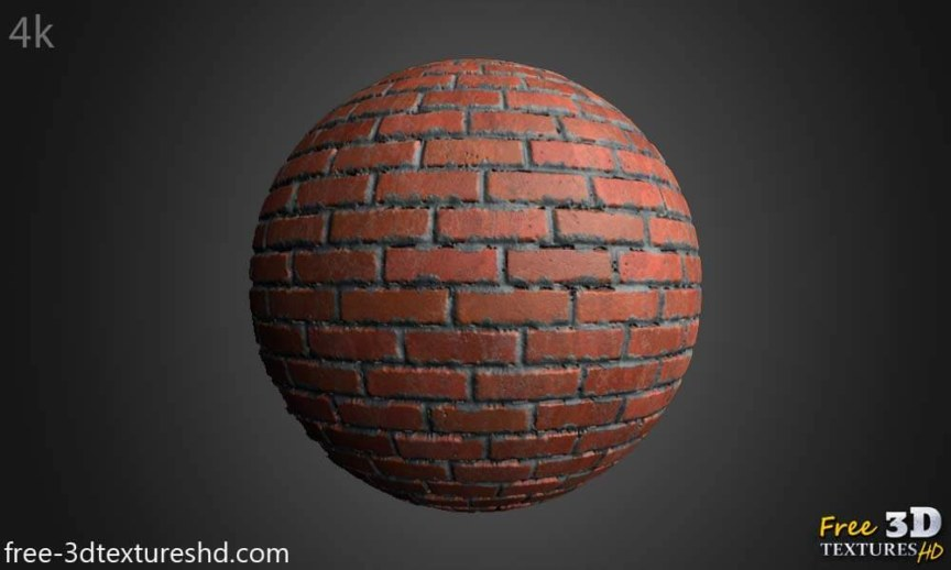 Old Brick Wall with Cement PBR free Texture