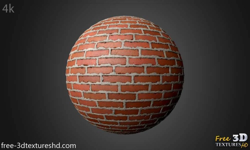 Brick Wall with Cement Free 3d Texture PBR Seamless HD 4k