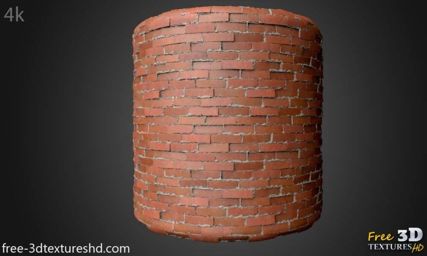 Old Brick Wall 3d Texture Free download seamless 4k HD