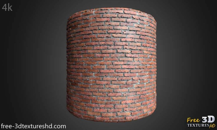 old brick wall 3d texture with cement free download