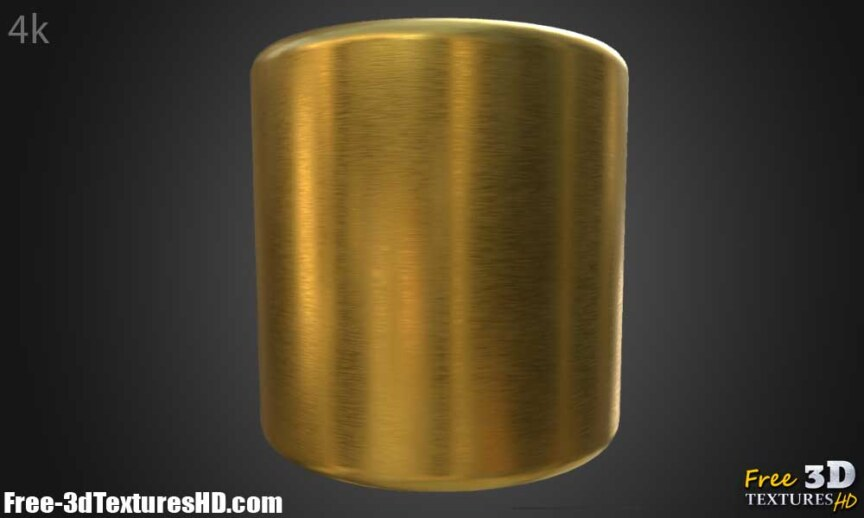 Gold-Textures-Seamless-brushed-BPR-material--High-Resolution--Free-Download-HD-4k-render-cylindre-preview