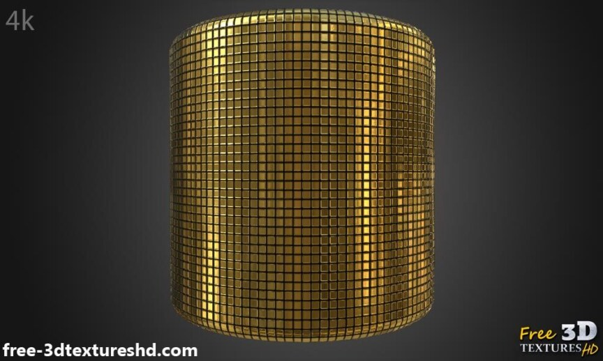 Gold-Textures-Seamless-disco-ball-BPR-material-High-Resolution-Free-Download-HD-4k-preview-cylindre