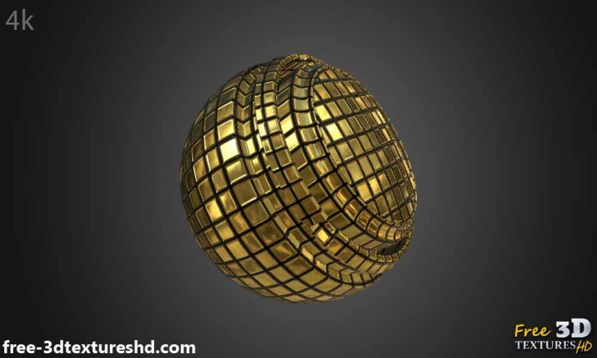 Gold-Textures-Seamless-disco-ball-BPR-material-High-Resolution-Free-Download-HD-4k-preview-render-material