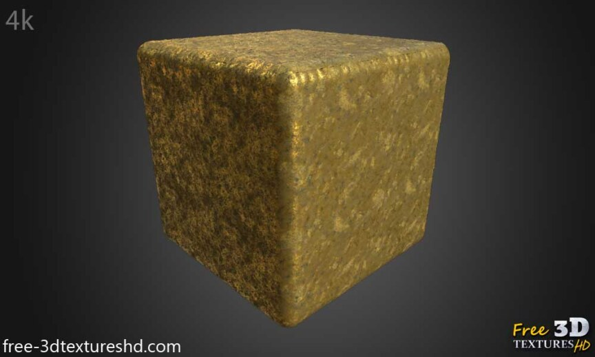 Gold-Textures-Seamless-old-natural--BPR-material--High-Resolution--Free-Download-HD-4k-preview-cube-render