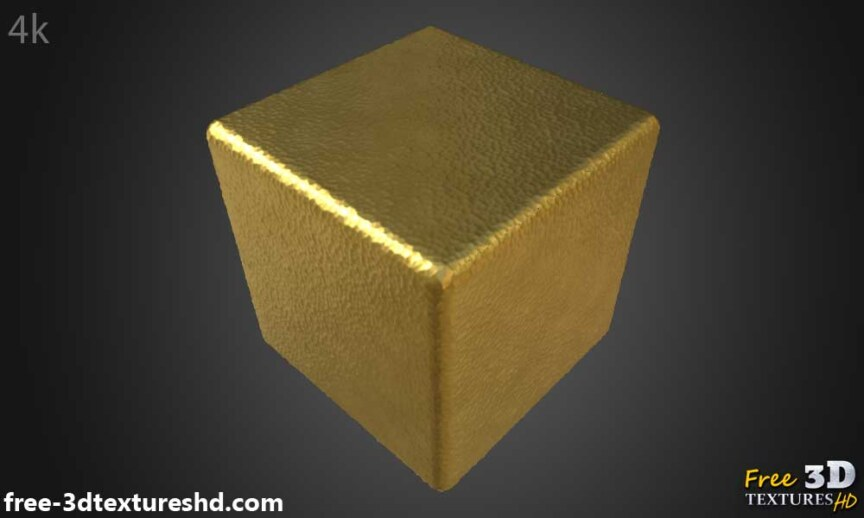 Gold-hammered-Textures-Seamless-natural-BPR-material-High-Resolution-Free-Download-HD-4k-preview-render-cube
