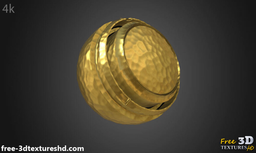 Gold-hammered-Textures-Seamless-natural-BPR-material-High-Resolution-Free-Download-HD-4k-preview-render-model