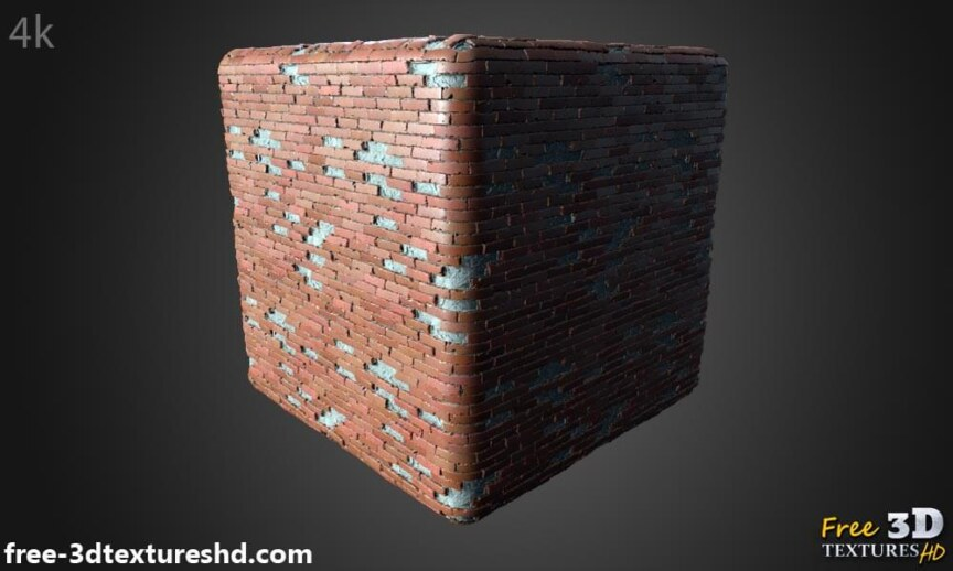 Old-Brick-wall-with-unstack-bricks-textures-free-download-background-BPR-material-high-resolution-HD-4k-cube-render