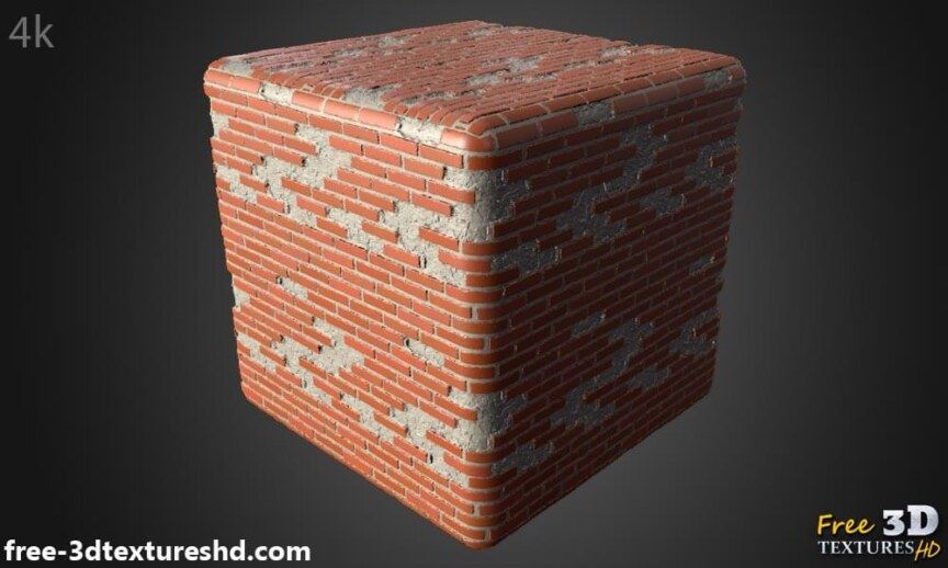 Old-Brick-wall-with-unstack-bricks-textures-free-download-background-BPR-material-high-resolution-HD-4k-render-preview-cube