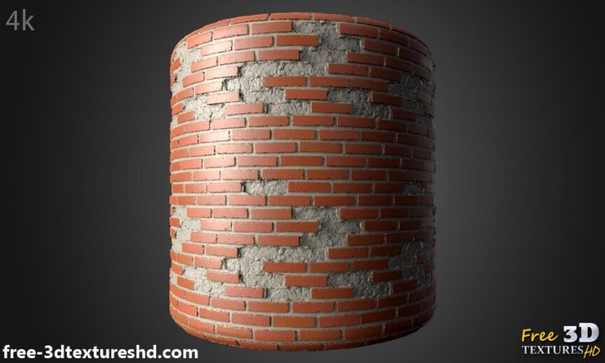 Old-Brick-wall-with-unstack-bricks-textures-free-download-background-BPR-material-high-resolution-HD-4k-render-preview-cylindre