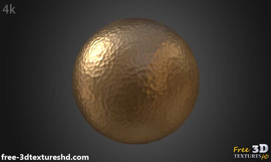 Hammered-copper-textures-BPR-material-Seamless-High-Resolution-Free-Download-HD-4k-render