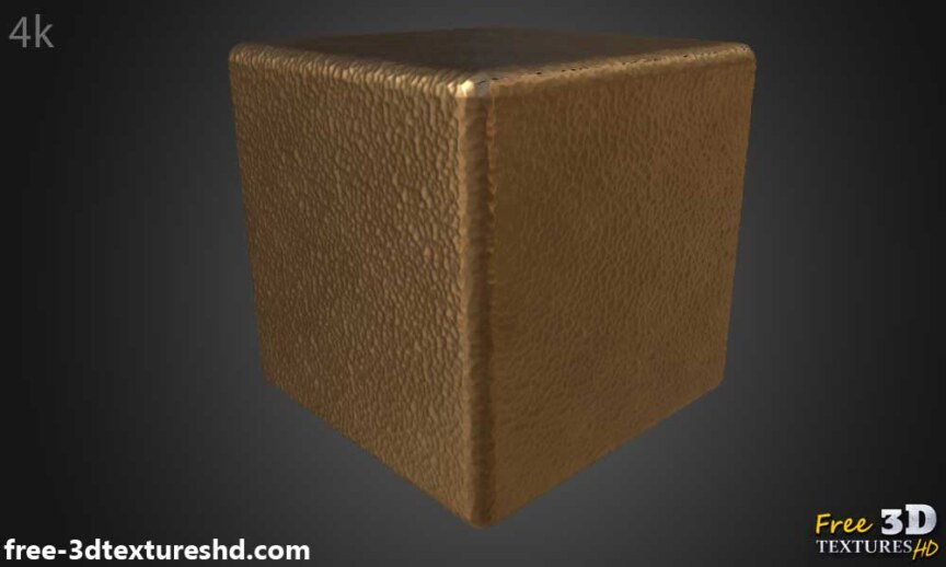 Hammered-copper-textures-BPR-material-Seamless-High-Resolution-Free-Download-HD-4k-render-cube