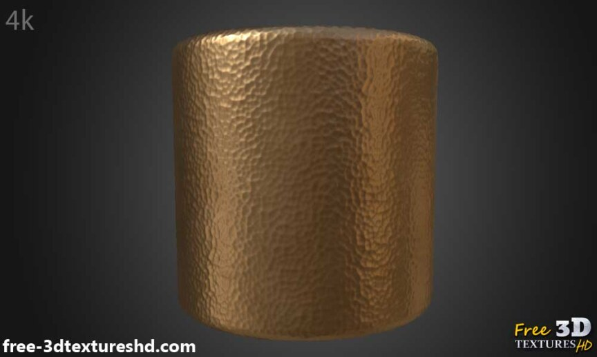 Hammered-copper-textures-BPR-material-Seamless-High-Resolution-Free-Download-HD-4k-render-cylindr