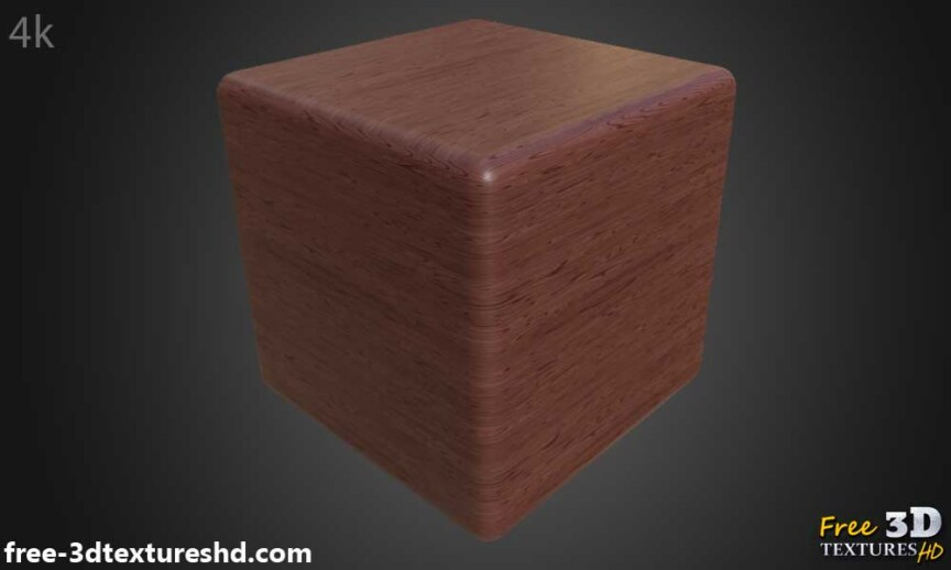 Red-simple-wood-texture-background-3d-BPR-material-free-download-HD-4K-render-preview-cube