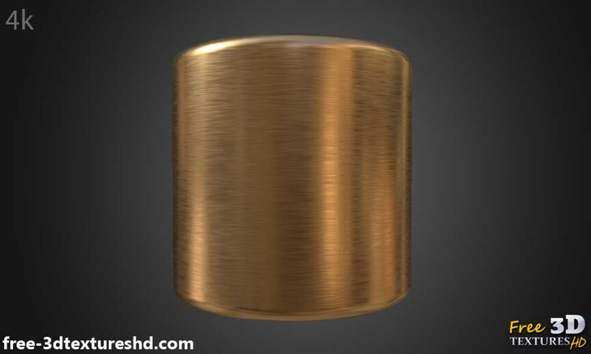 copper-brushed-Textures-BPR-material-Seamless-High-Resolution-Free-Download-HD-4k-preview-render-cylindre