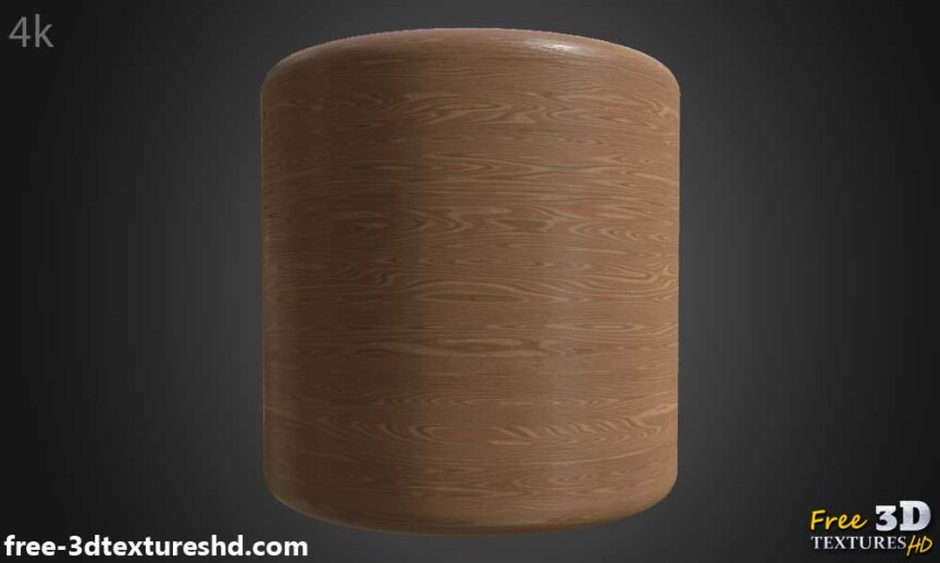 simple-brown-wood-texture-BPR-material-background-3d-free-download-HD-4K-preview-render-cylindre