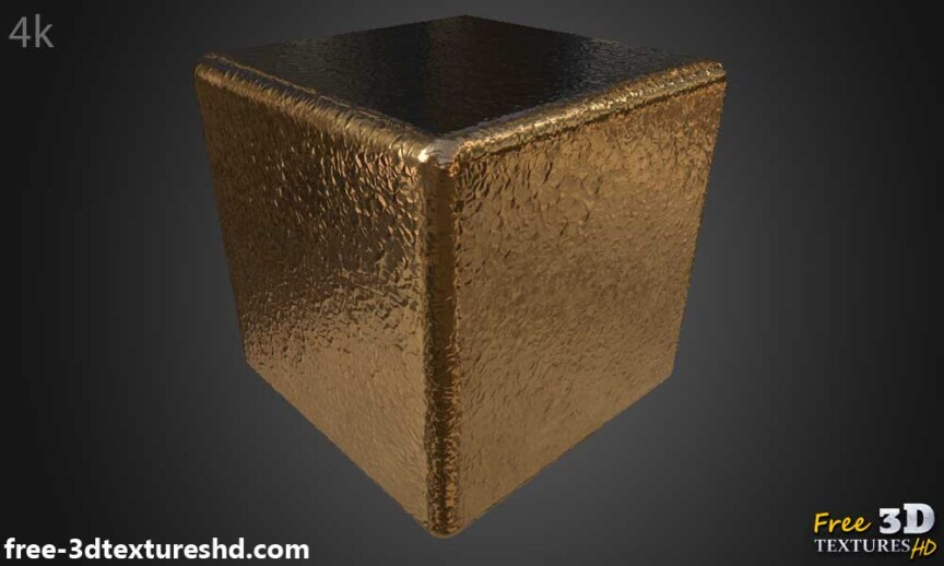 metallic Paper-copper-textures-BPR-material-Seamless-High-Resolution-Free-Download-HD-4k-render-cube