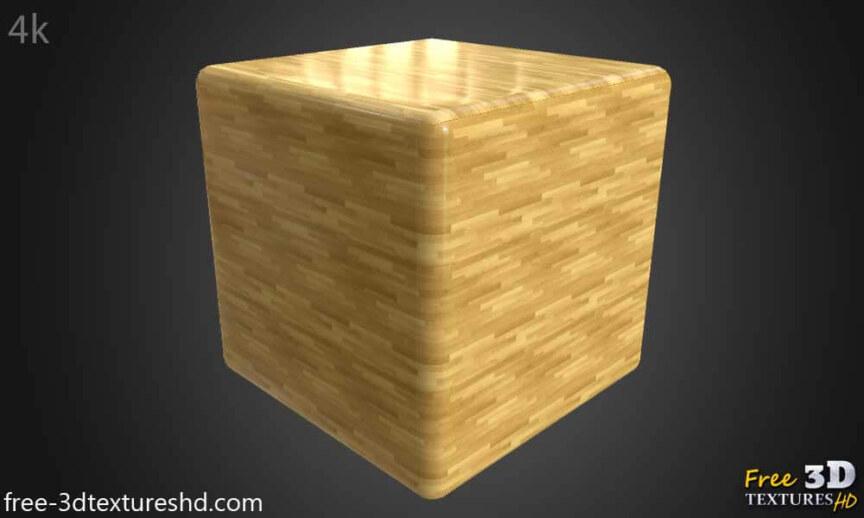 Wood-floor-parquet-bright-texture-3d-BPR-free-download-seamless-HD-4K-render-cube