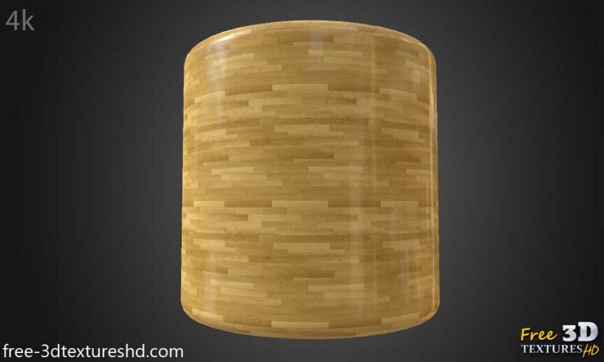 Wood-floor-parquet-bright-texture-3d-BPR-free-download-seamless-HD-4K-render-cylindre