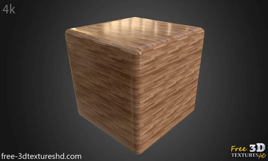 Wood-floor-parquet-brown-texture-3d-BPR-free-download-seamless-HD-4K-render-cube