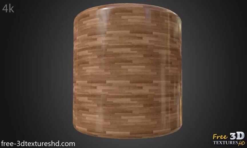 Wood-floor-parquet-brown-texture-3d-BPR-free-download-seamless-HD-4K-render-cylindre