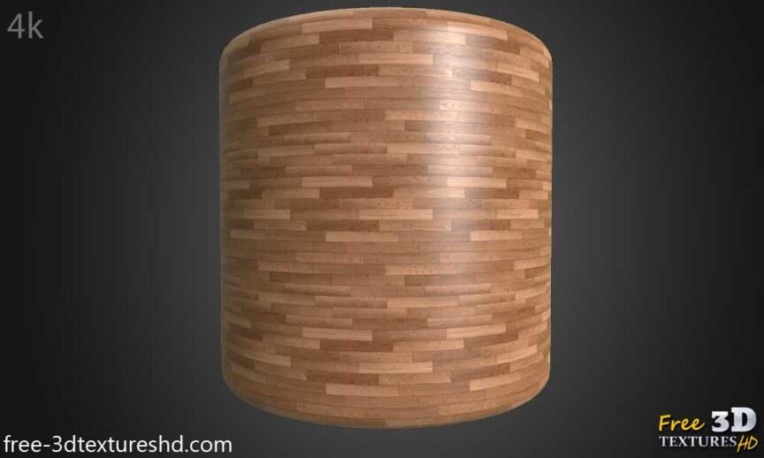 Wood-floor-parquet-texture-3d-BPR-free-download-seamless-HD-4K-render-cylindre